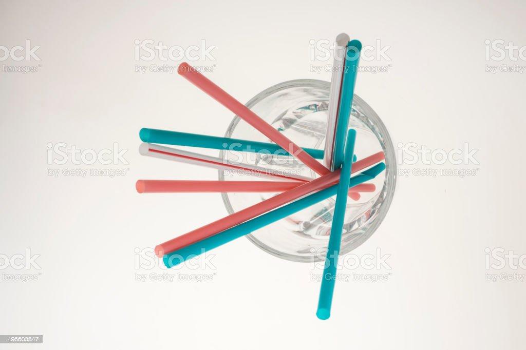 Common drinking straw stock photo