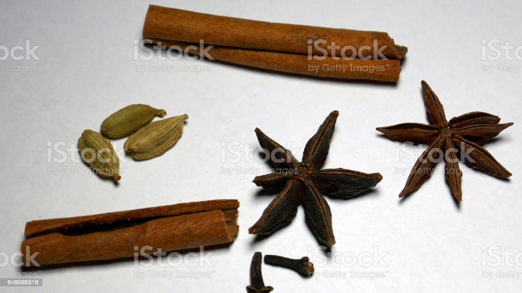 Common Indian Spices stock photo