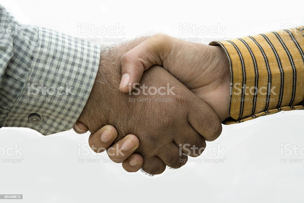 Common Mens Handshake royalty-free stock photo