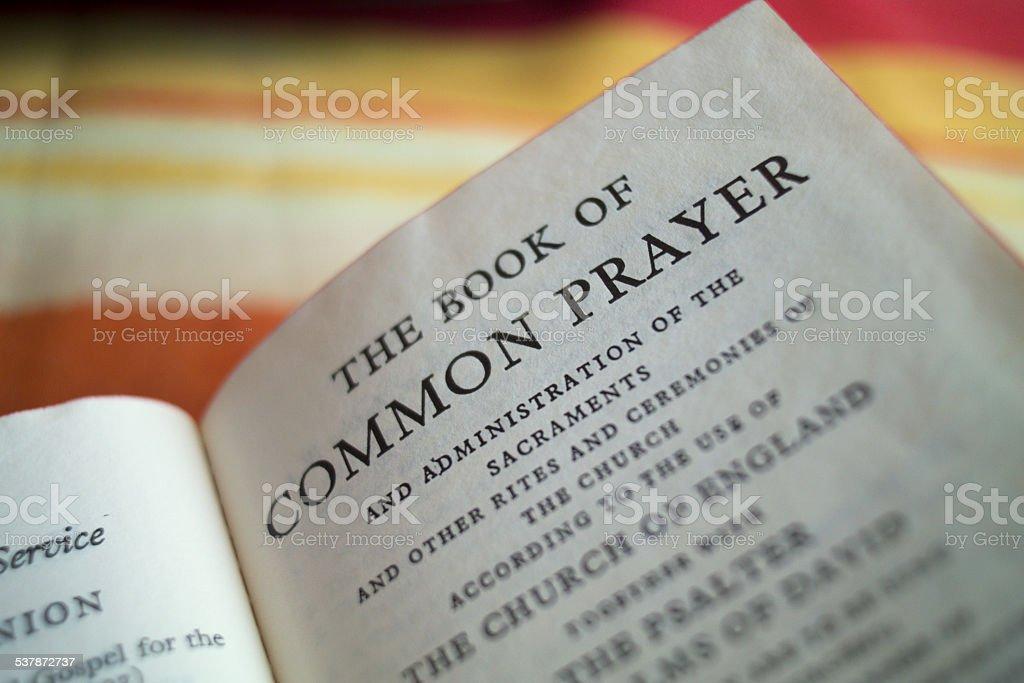 Common Prayer stock photo