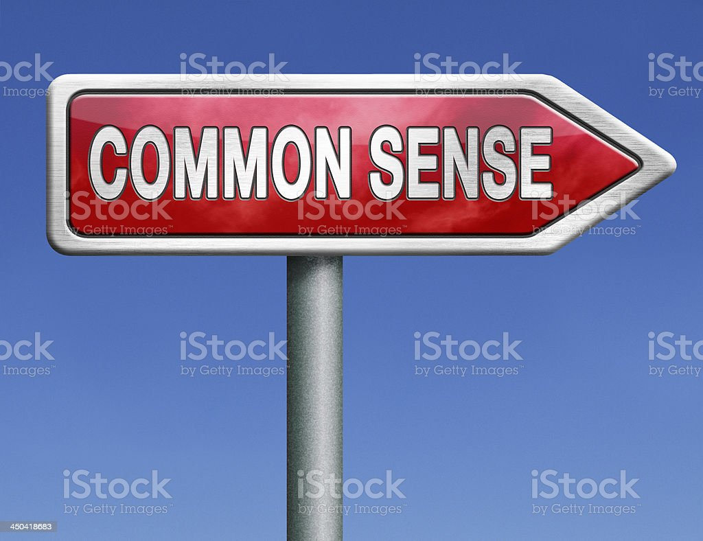 common sense stock photo