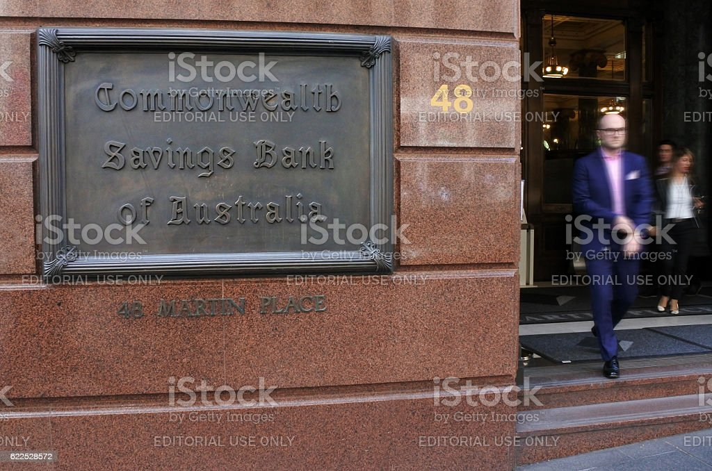 Commonwealth Bank of Australia Sydney New South Wales Australia stock photo