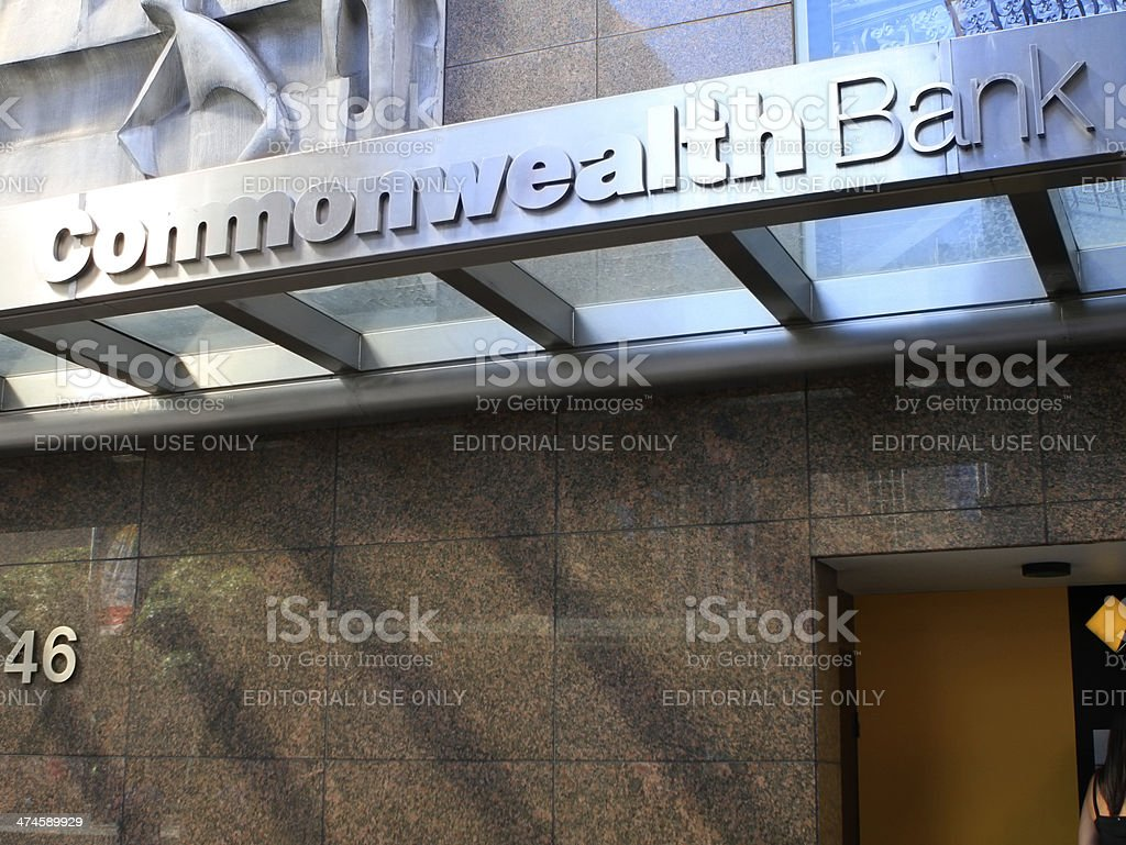 Commonwealth Bank sign stock photo