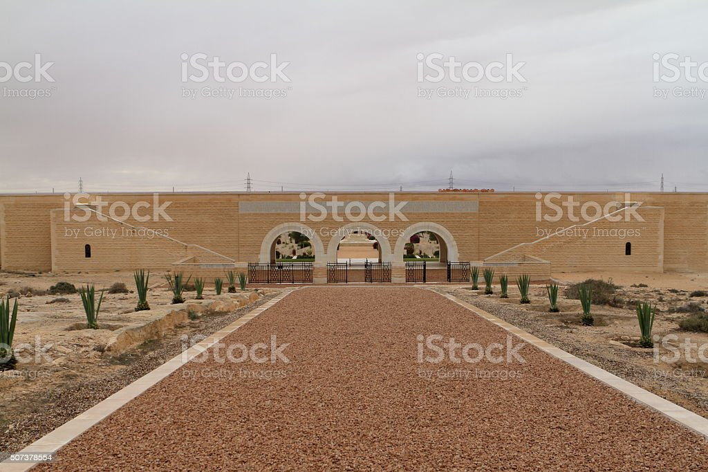 Commonwealth war cemetery at El Alamein in Egypt stock photo