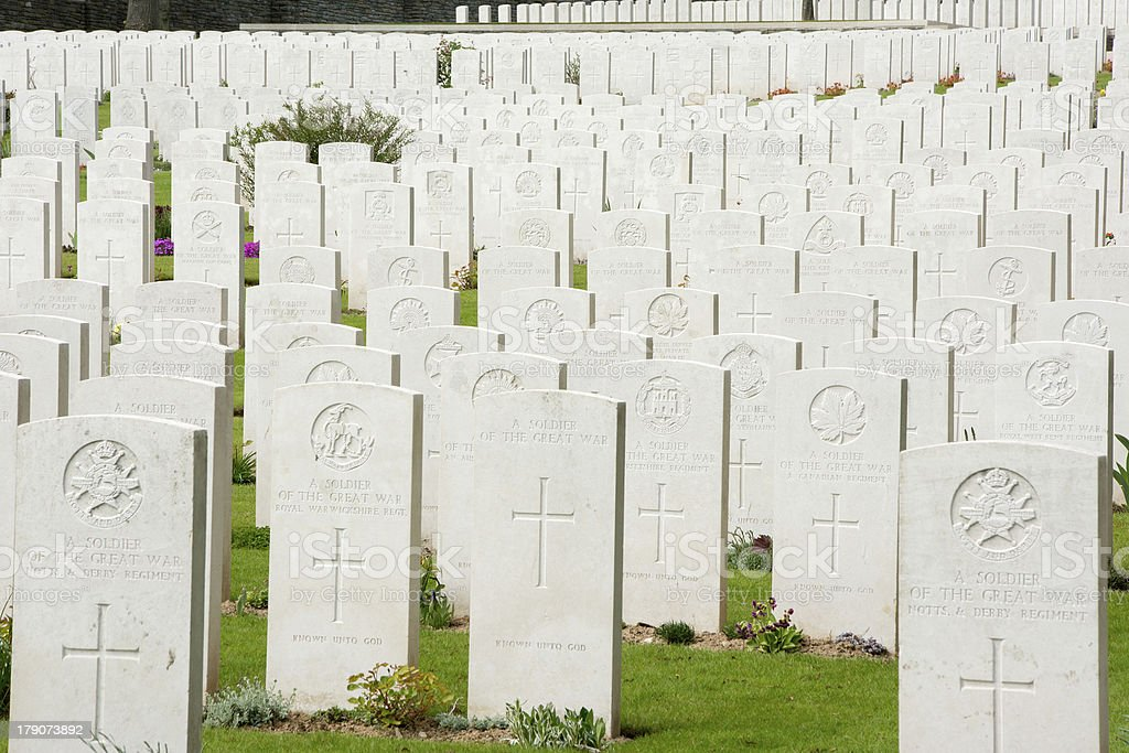 Commonwealth war graves in France royalty-free stock photo