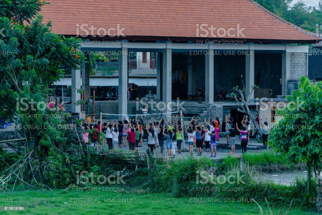Communal dancing stock photo