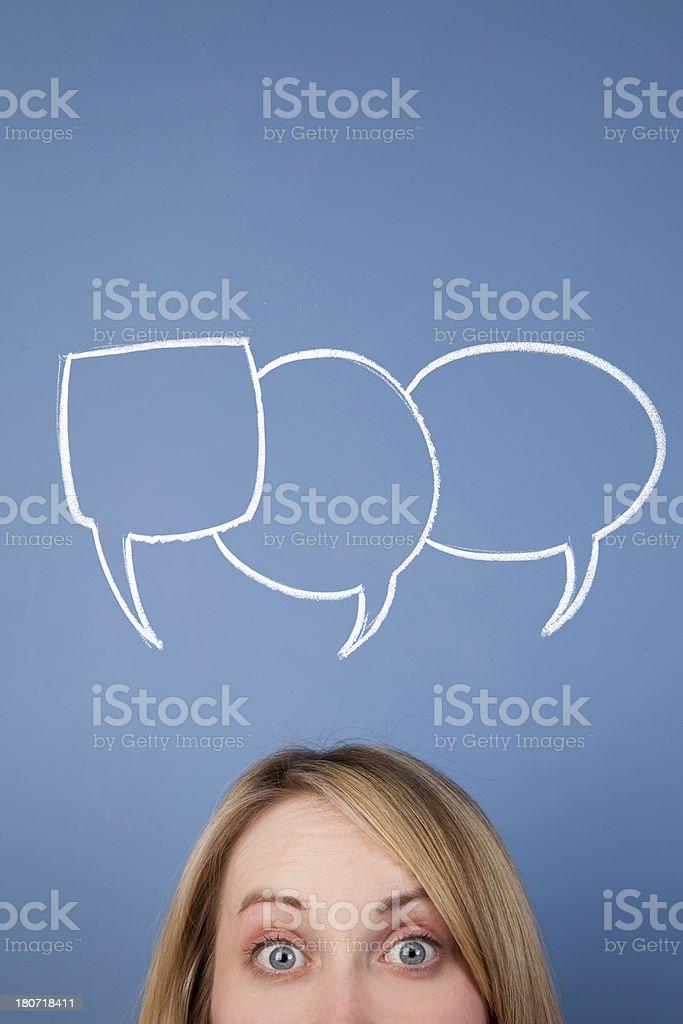 Communicate royalty-free stock photo