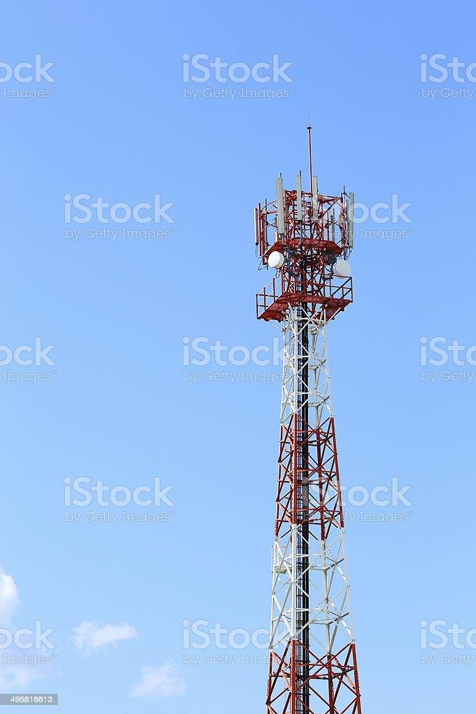 communication antenna and telecommunication radio royalty-free stock photo