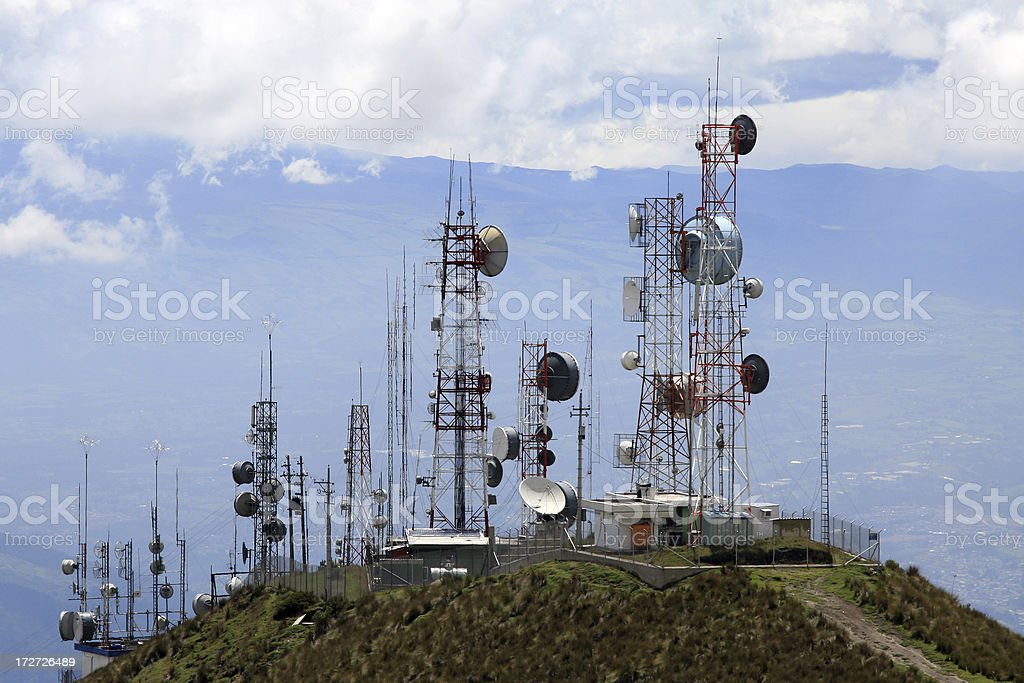 Communication Antennas stock photo