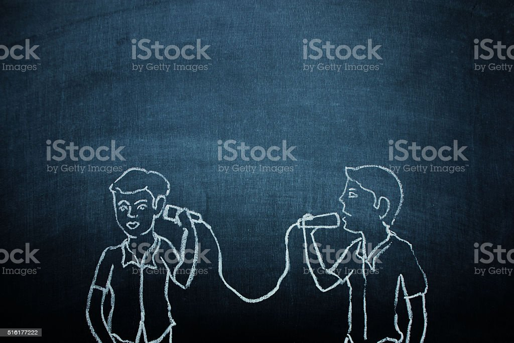 Communication concept on chalkboard stock photo