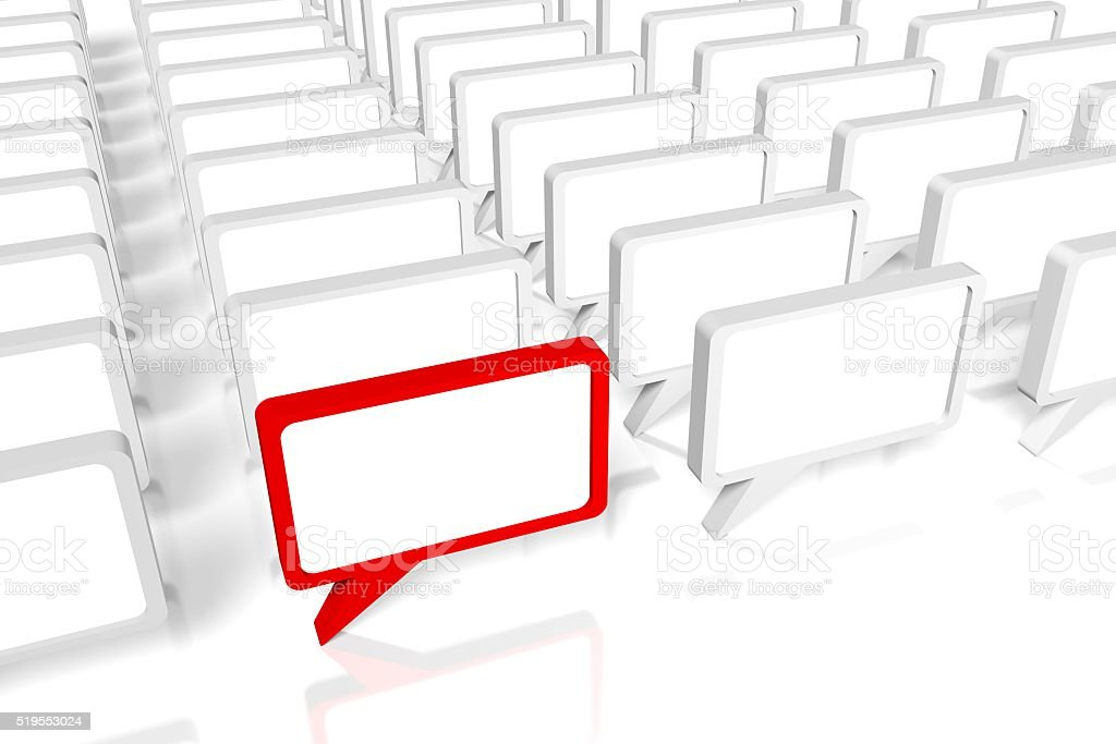 3D communication concept stock photo