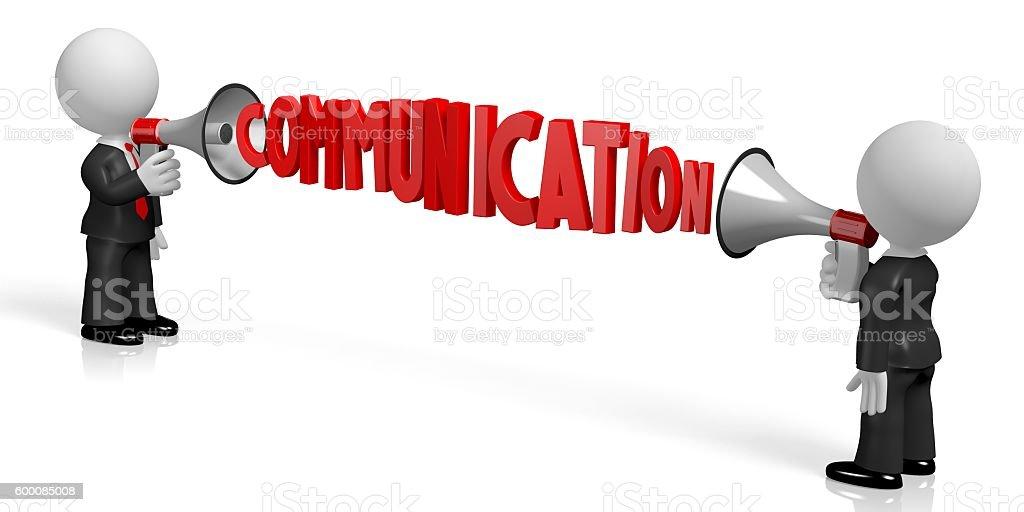 3D communication concept stock photo