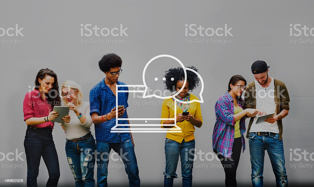 Communication Connection Community Chatting Concept stock photo