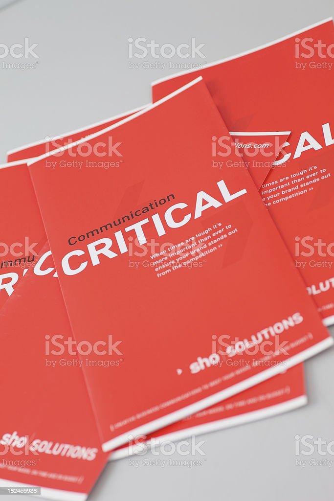 Communication Critical Leaflets... royalty-free stock photo