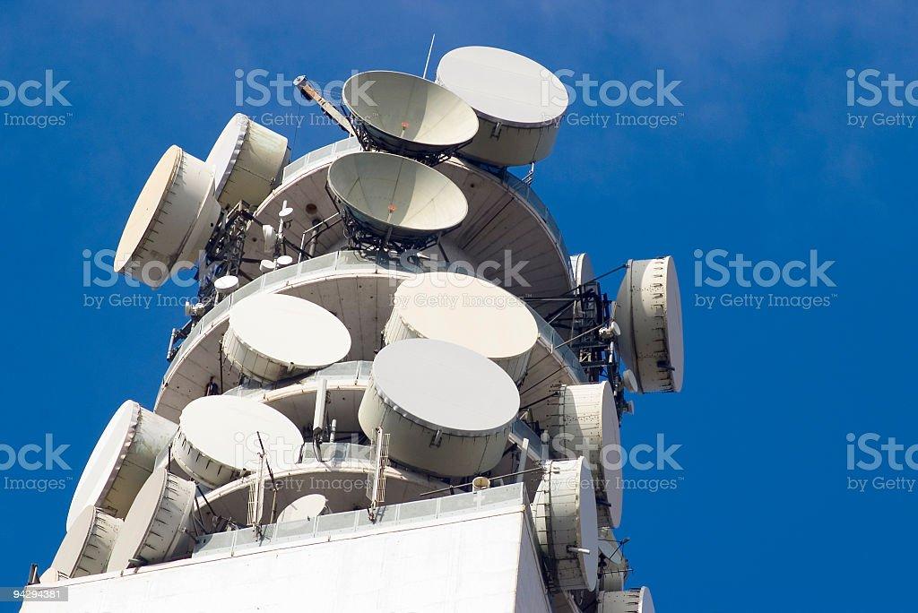 Communication dishes royalty-free stock photo
