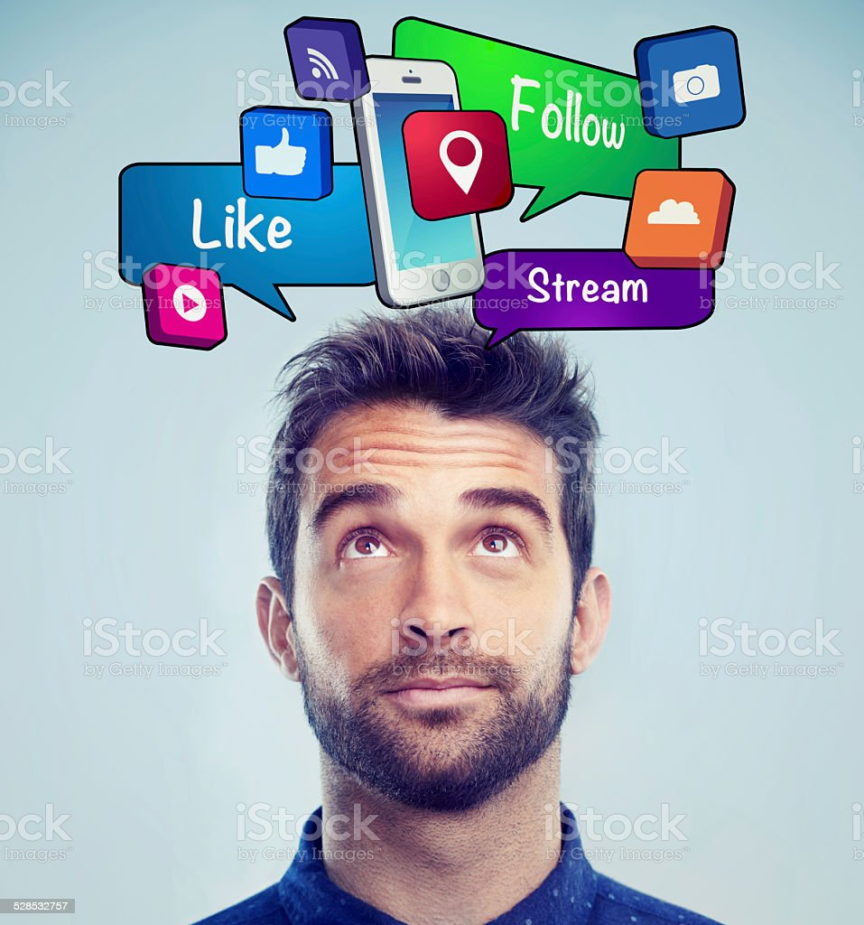 Communication gets easier and easier every day stock photo