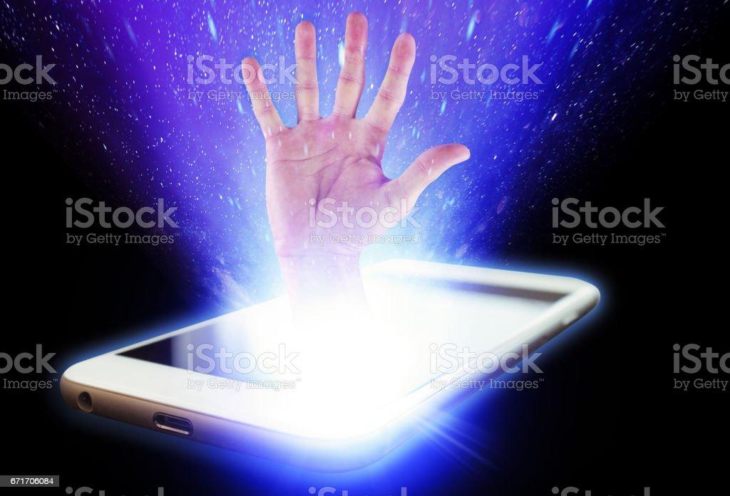 Communication hand stock photo