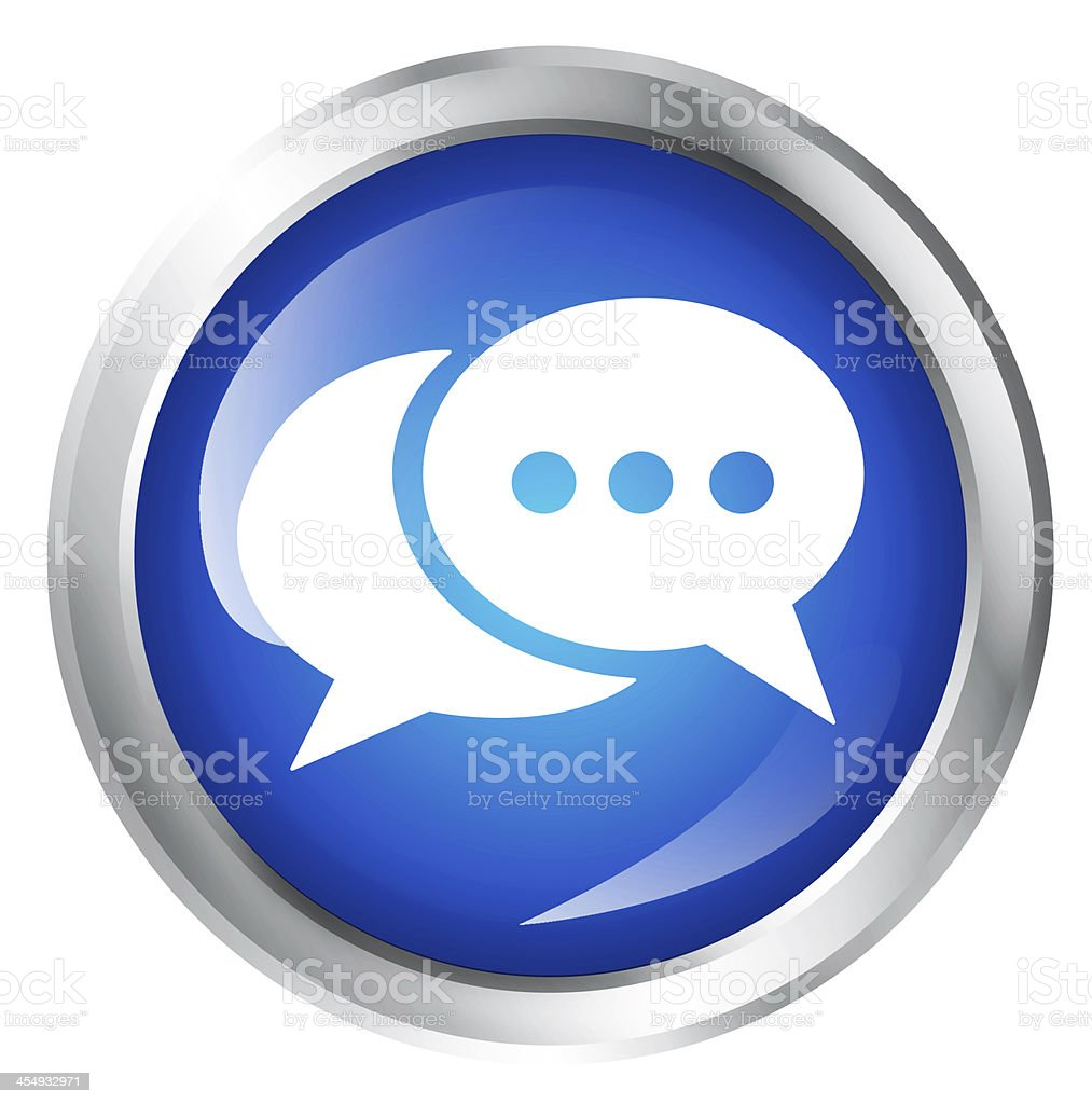 communication icon stock photo