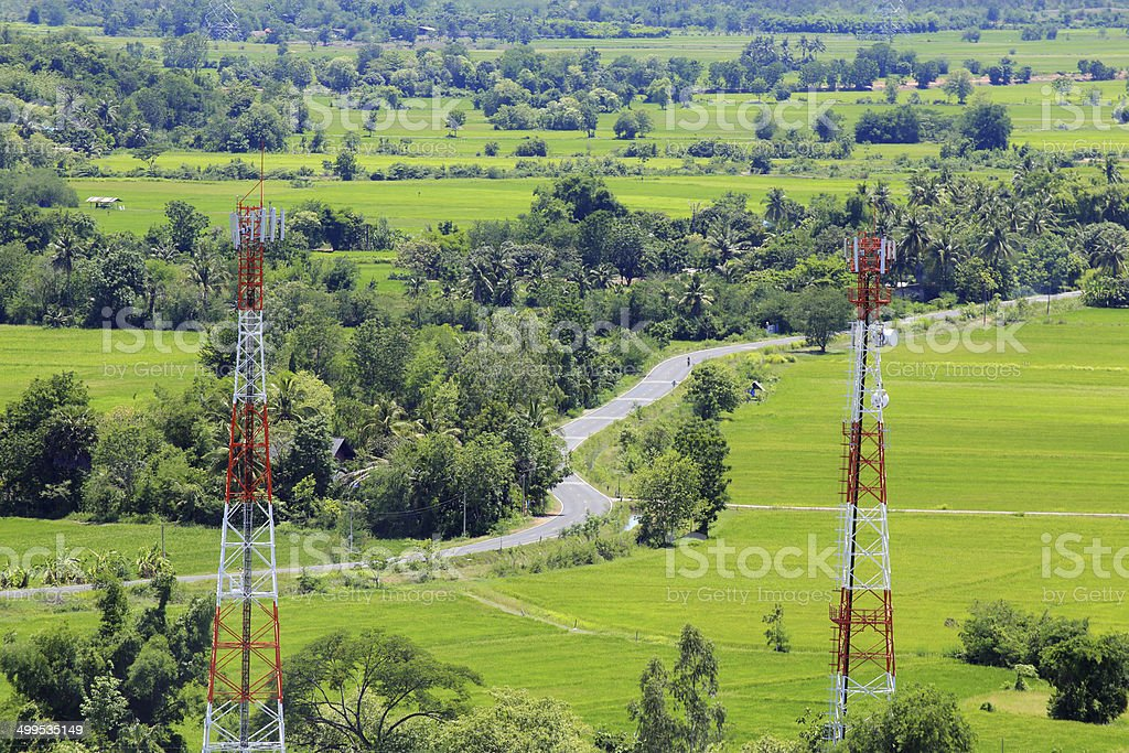 Communication in countryside stock photo