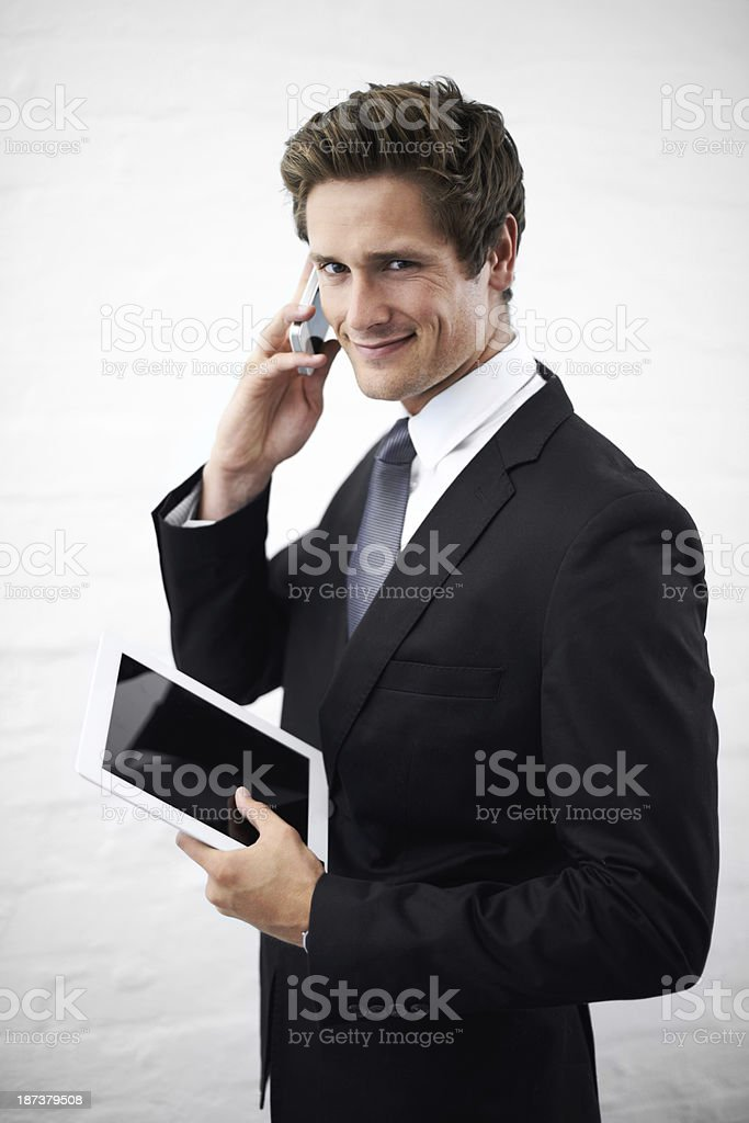 Communication is an important part of business royalty-free stock photo