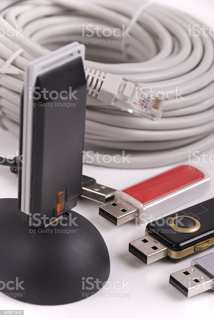 Communication items stock photo