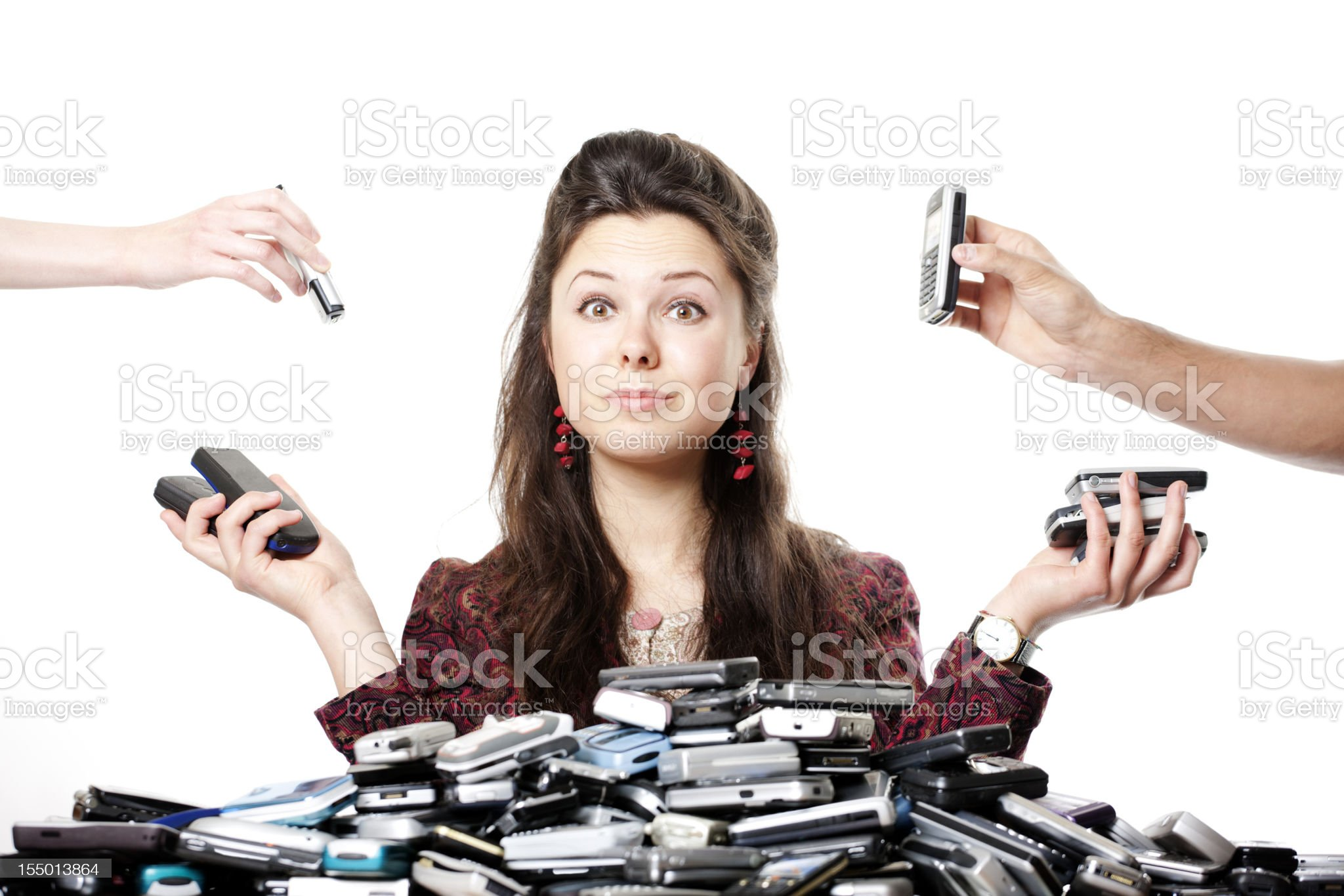 Communication overload royalty-free stock photo