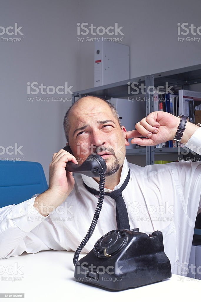 communication problem royalty-free stock photo