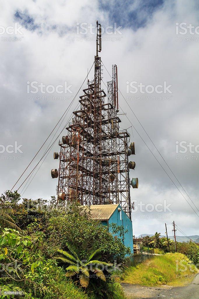 Communication Puerto Rico stock photo