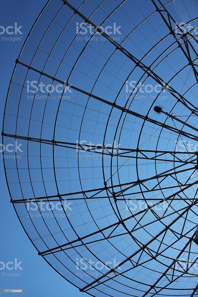 Communication Radar Against Blue Sky royalty-free stock photo