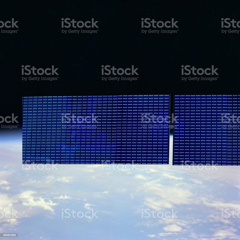 Communication Satellite on orbit royalty-free stock photo