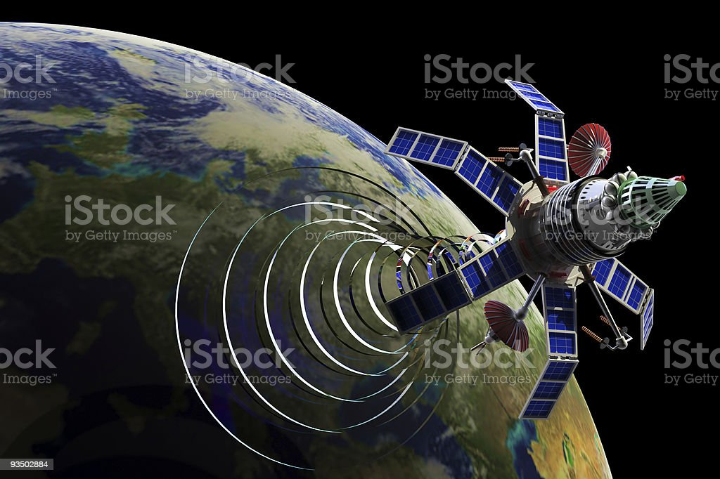 Communication satellite royalty-free stock photo