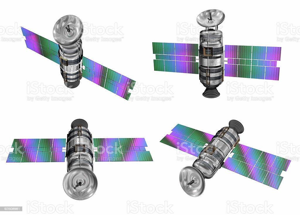Communication Satellites (Clip Path) royalty-free stock photo