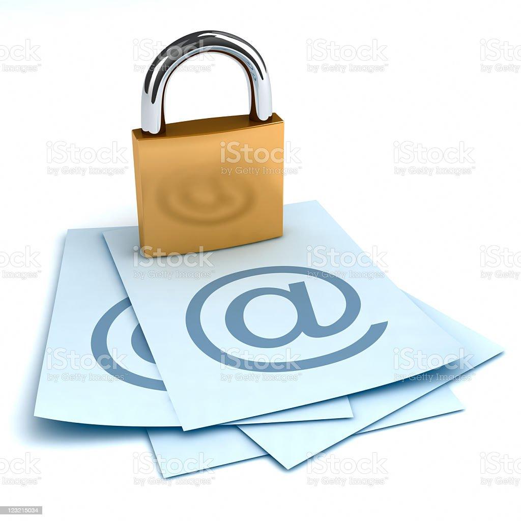 Communication security. stock photo
