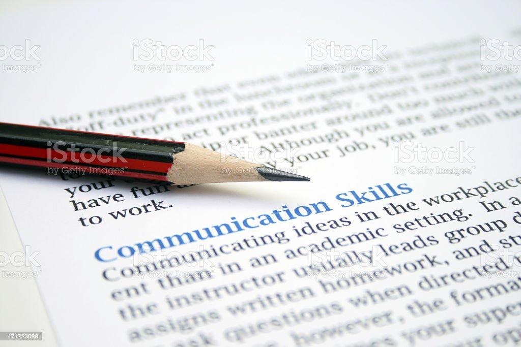 Communication skills stock photo