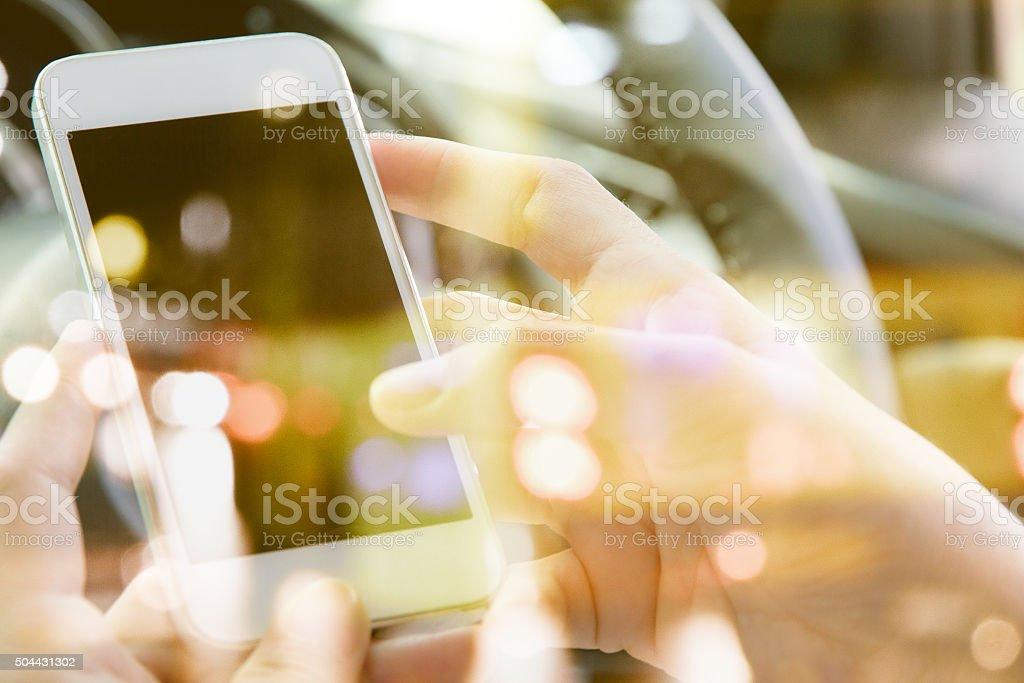 communication technology concept. stock photo