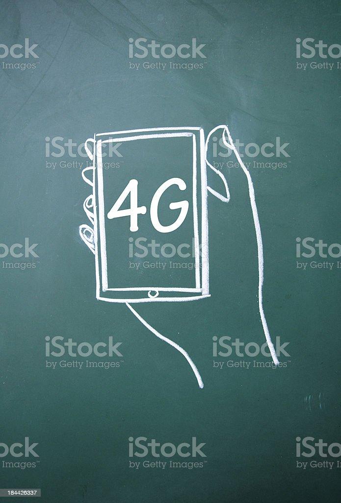 4G communication technology sign royalty-free stock photo