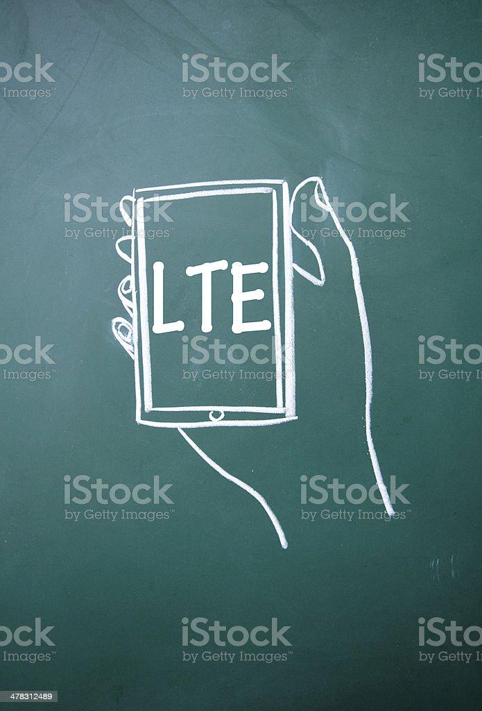 LTE communication technology sign royalty-free stock photo