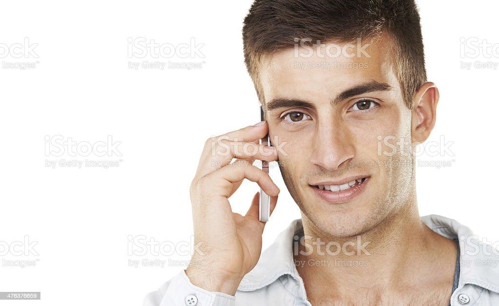 Communication through technology royalty-free stock photo