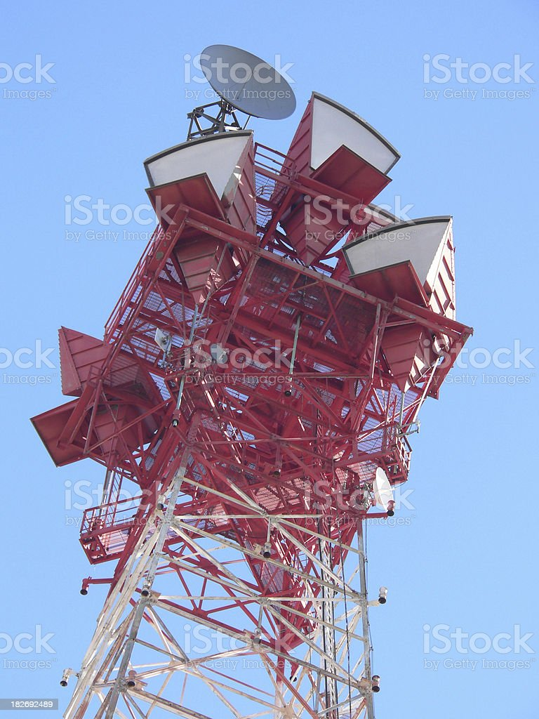 communication tower array royalty-free stock photo