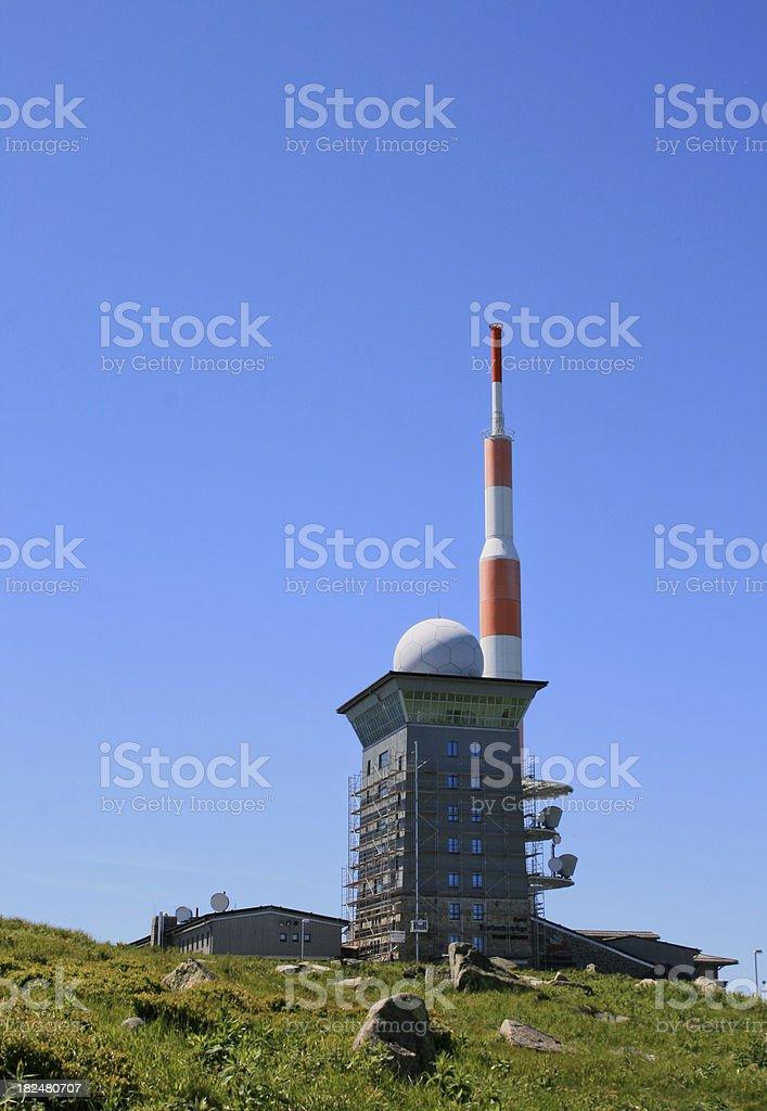 Communication Tower on Brocken Mountain stock photo