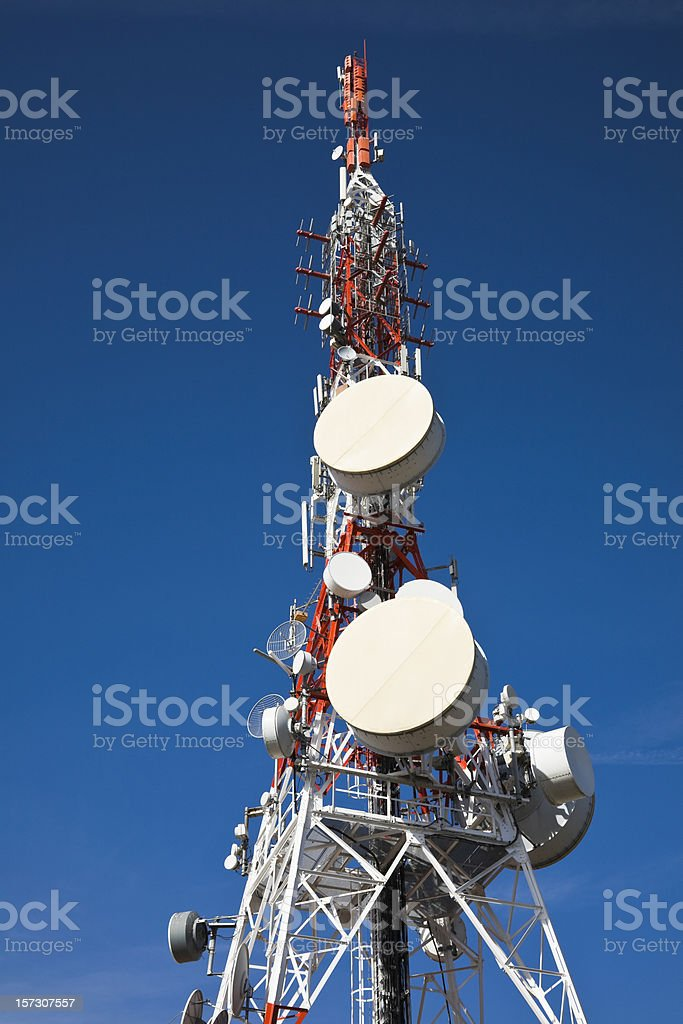 Communication Tower royalty-free stock photo