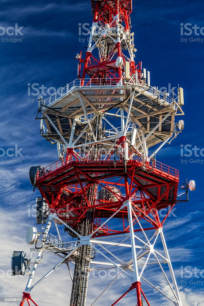 Comunications tower stock photo