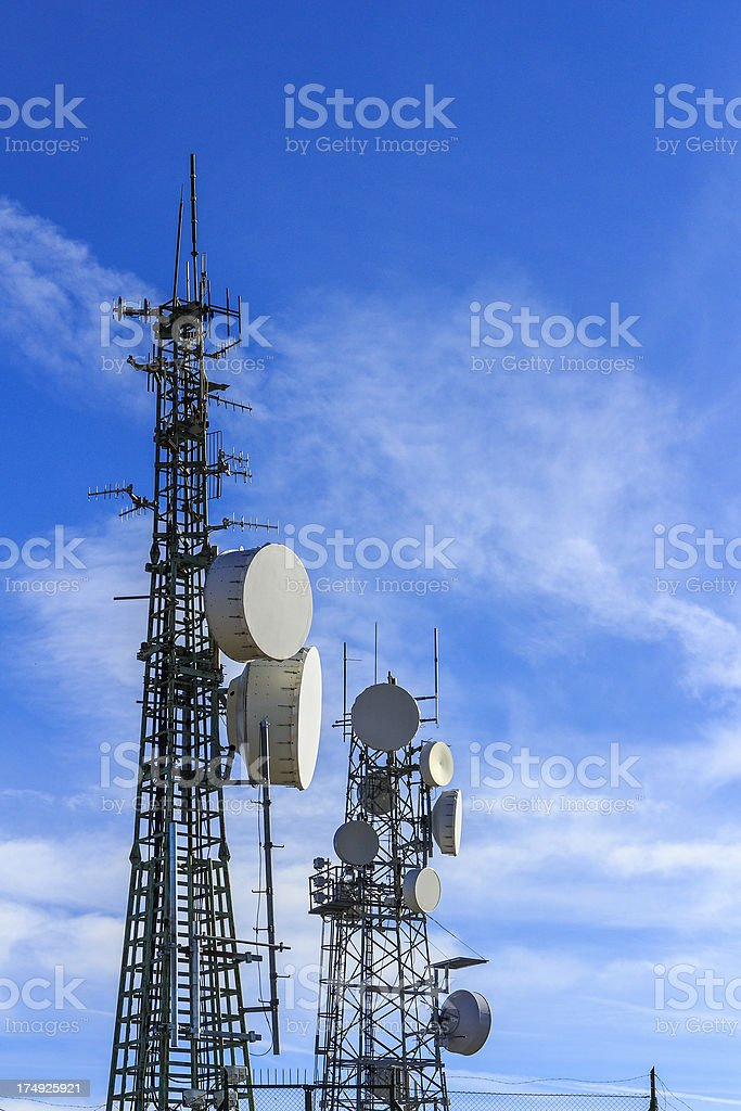 Communication Towers royalty-free stock photo