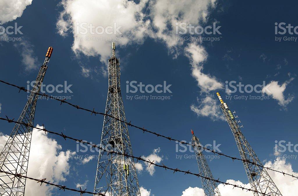 Communication Towers royalty-free stock photo