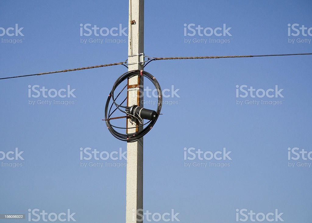 communication wires royalty-free stock photo