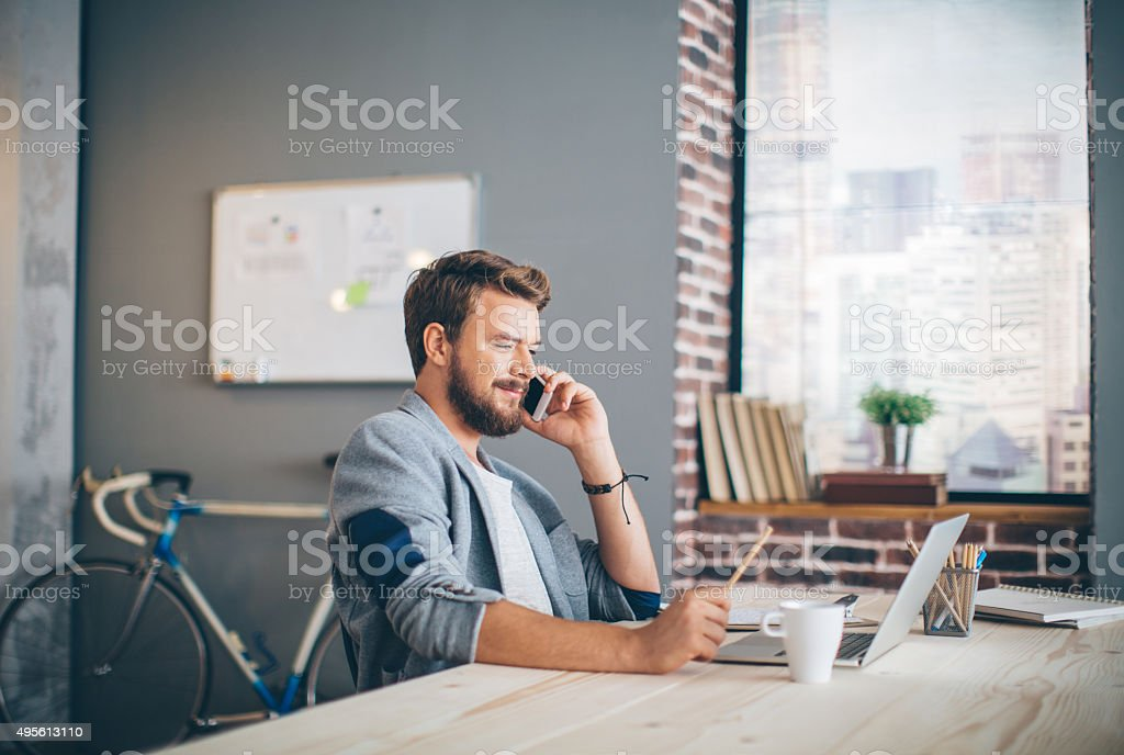 Communication with client is everything. stock photo