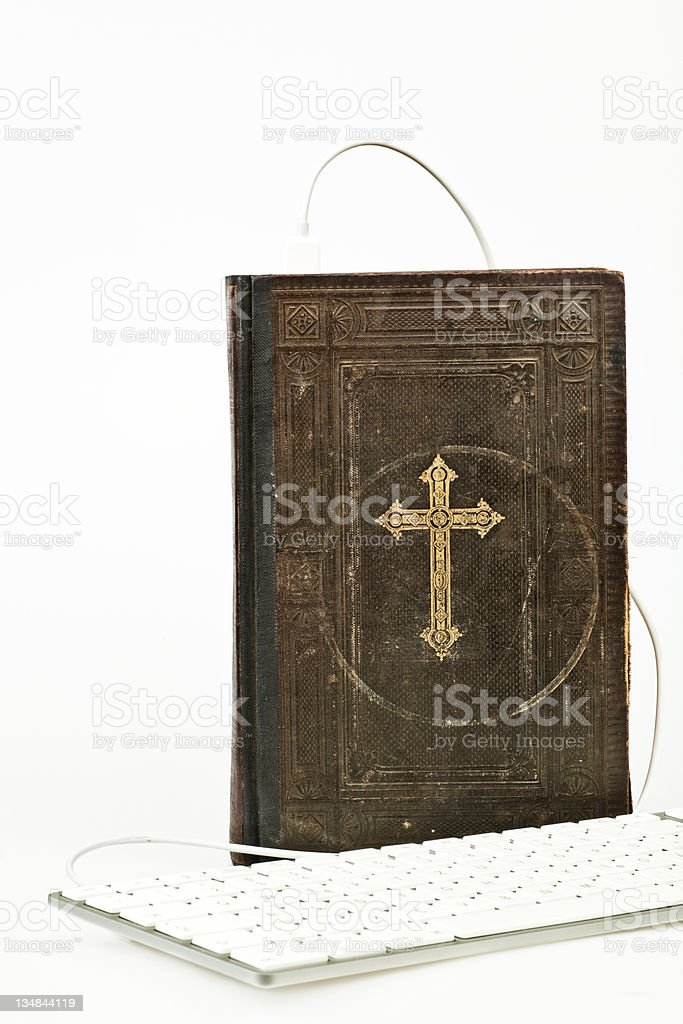 Communication with God royalty-free stock photo