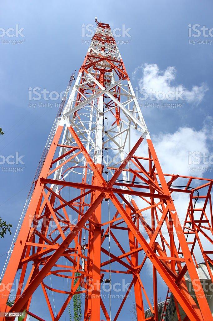 Communications antenna stock photo