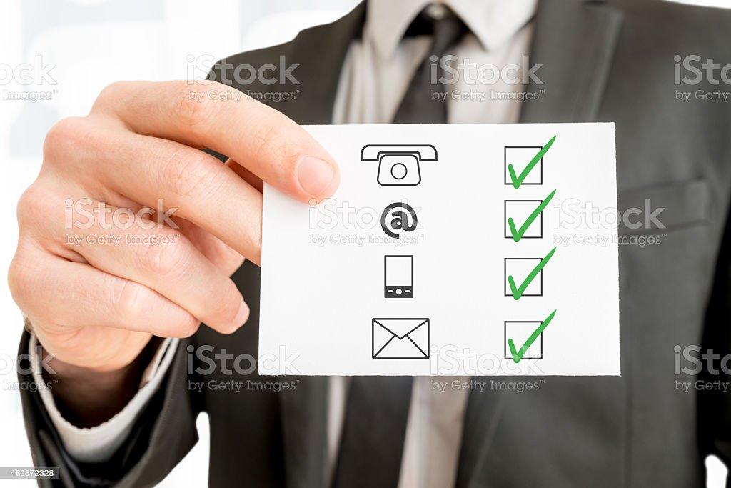 Communications concept stock photo