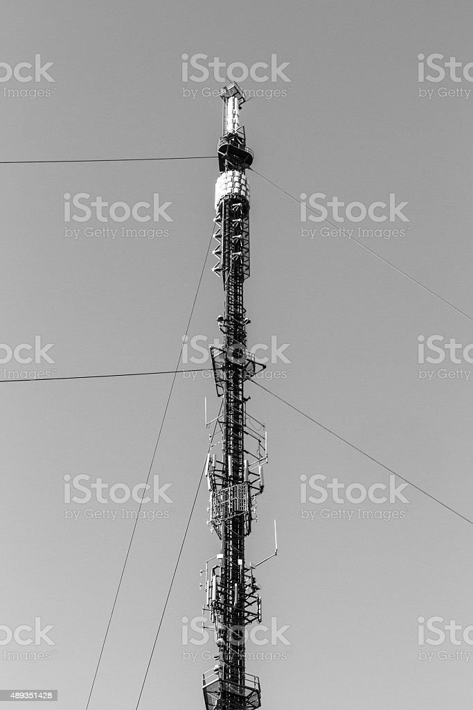 Comunicazioni Mast nell'East Sussex foto stock royalty-free